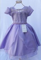 Vestido Princesa Sofia Infantil Aniversário Luxo 4 ao 16 - Giovanela