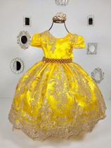Vestido Realeza Amarelo 2190 - Enjoy kids