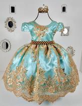 Vestido Realeza Verde 2190 - Enjoy kids