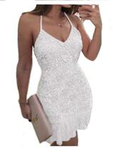 Vestido Renda  Civil  Babado Midi Festa Casamento - Shoopweb