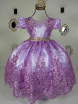 Vestido Renda Lilas 2192 - Enjoy kids