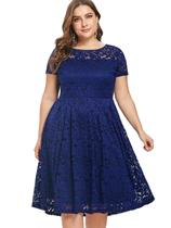 Vestido Renda Plus Size Madrinha Noite - Shoopweb