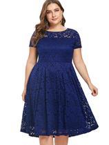 9543bae2e4 Vestido Renda Plus Size Madrinha Noite - Shoopweb