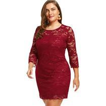 Vestido Renda Plus Size Moda Gospel Casamento - Shoopweb