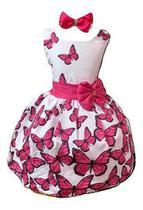 Vestido Temático Borboleta Rosa - Pequenos Encantos Baby