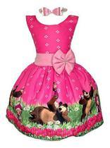 Vestido Temático Masha E O Urso - Pequenos Encantos Baby