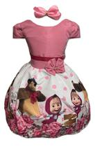 Vestido Temático Masha E Urso Bola - Pequenos Encantos Baby