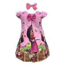 Vestido Temático Masha E Urso - Pequenos Encantos Baby