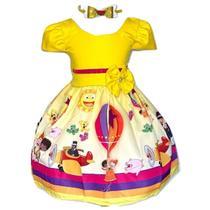 Vestido Temático Mundo Bita - Pequenos Encantos Baby