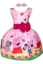Vestido Temático Peppa Pig Regata - Pequenos Encantos Baby