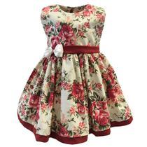 Vestido Verão Menina Charmosa Laura Floral - Tieloy