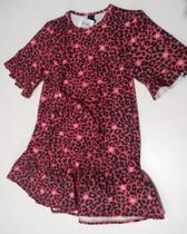 Vestido Vermelho Oncinha Infanti Neopreme Tecido Infanto Juvenil -