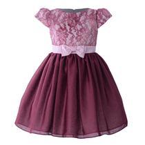 Vestidos Infantil de Tecido Bordot Mariá Bebê -