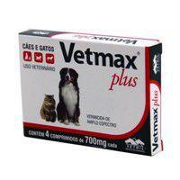 Vetmax Plus Vermífugo Cães 10kg 4 Comprimidos Vetnil -
