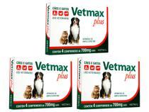 Vetmax Plus Vetnil 700 Mg - 4 Comprimidos - 3 Unidades -