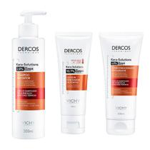 Vichy Dercos Kera Solutions Kit - Shampoo + Condicionador + Leave In -