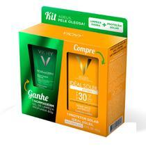 Vichy Kit - Idéal Soleil Toque Seco FPS30 + Normaderm Gel de Limpeza -