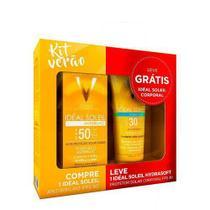 Vichy Kit Verão Protetor Solar Idéal Soleil Fps50 Antibrilho 40g + Idéal Soleil Hydrasoft Fps30 120ml -