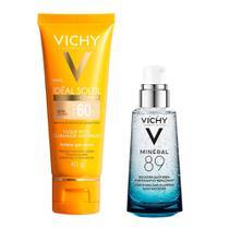 Vichy Minéral 89 Ideal Soleil Clarify Extra Clara Kit  Hidratante Facial + Protetor Solar FPS60 -