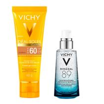 Vichy Minéral 89 Ideal Soleil Clarify Morena Kit  Hidratante Facial + Protetor Solar FPS60 -