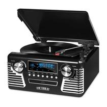 Victrola Retrô Record Player Bluetooth Preta - V50-200 BLK