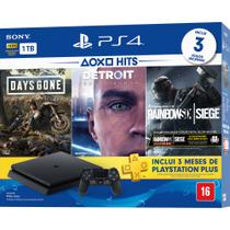 Video game ps4 slim 1tb 1controle 3 jogos 3 meses d voucher - Sony