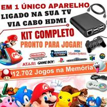 Vídeo Game Retro 32GB Com Recalbox 2 Controles Usb - Master info