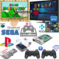 Video Game Retro 64gb 2 Controles sem Fio de PS3 - Retrogamespi