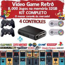 Video Game Retrô 8500 Jogos 32gb 4 Controles - Master info