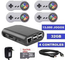 Vídeo Game Retro com 13 MIL Jogos 32GB + 4 Controles com fio - Promoção