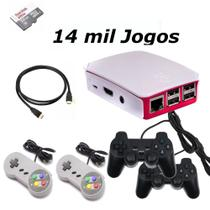 Vídeo Game Retro com 14 MIL Jogos 32GB com 4 Controles usb - Raspbarry
