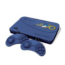 Video Game Tectoy Master System Azul 2 Controle 1 Cabo AV -