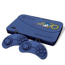Video Game Tectoy Master System-Azul 2Controle c/fio 1CaboAV -