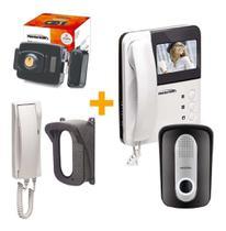Vídeo porteiro com fechadura interfone e protetor - Protection