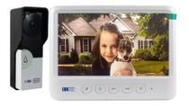 Vídeo Porteiro Eletrônico Residencial Interfone Campainha Câmera C/ Tela Colorida 7 Polegadas Destrava Portão - LUATEK