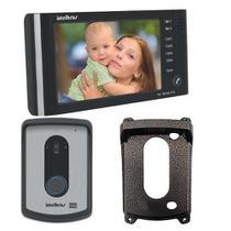 Video Porteiro Intelbras Iv7010 Hf Preto + Protetor Externo -