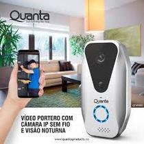 Video Porteiro WI-Fi Inteligente Quanta QTVPI005 Visão Noturna Celular Smartfone -