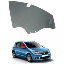 Vidro Porta Dianteiro Direito Com 2 Furos Renault Sandero 14/... 4 Portas - Tritemp