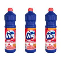 Vim Floral Cloro Gel Aditivo 700ml (Kit C/03) -