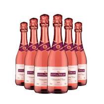 Vinho Espumante Quinta do Morgado Moscatel Rosé 660ml - Kit 6 Garrafas de Espumante Rosé -