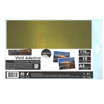 Vinil Adesivo A4 110g Dourado Escovado impermeável Marpax 10 folhas -