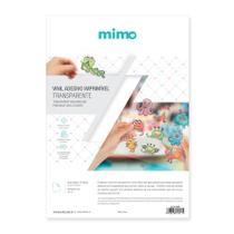 Vinil adesivo imprimível Transparente Resistente a Água - Mimo - A4 10 fls -