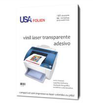 Vinil Adesivo Transparente para Impressora a Laser - 10 Folhas - A4 - Usa Folien