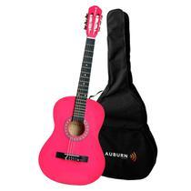 Violão Acústico Clássico Auburn Music Aubvo616B  6 Cordas Pink + Capa - Kit Comercial
