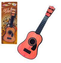 Violao de plastico com corda de nylon guitar 40cm wellkids - Wellmix