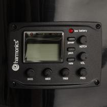 Violão Eletroacústico Nylon GE-20 Preto HARMONICS -