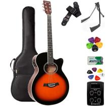 Violão Giannini Mini-Jumbo GSF1D 3 Tons Sunburst + KIT2CL