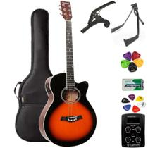 Violão Giannini Mini-Jumbo GSF1D 3 Tons Sunburst + KIT6L