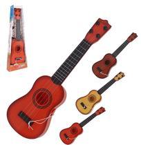Violao guitar party rock colors mini com palheta 41,5cm na caixa wellkids - Wellmix
