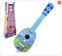 Violão Guitarra Infantil de Plástico com Palheta Ukulele Estampas Sortidas - Kopeck